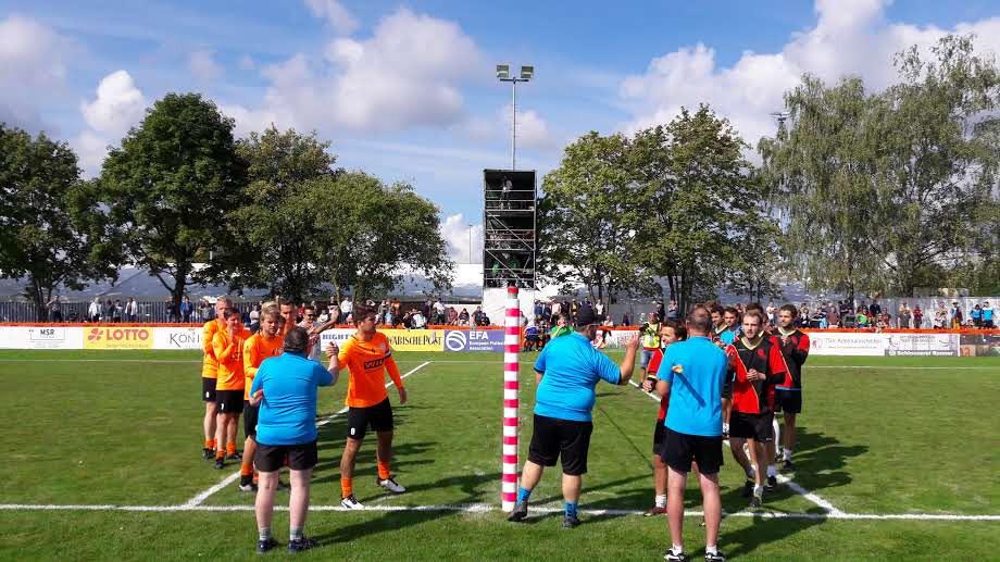 Vuistbalwedstrijd in Duitsland