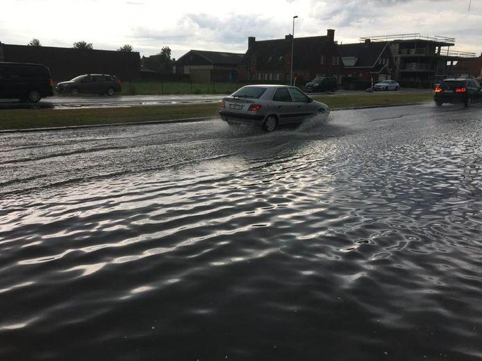 Wateroverlast in Wenduine na hevig onweer