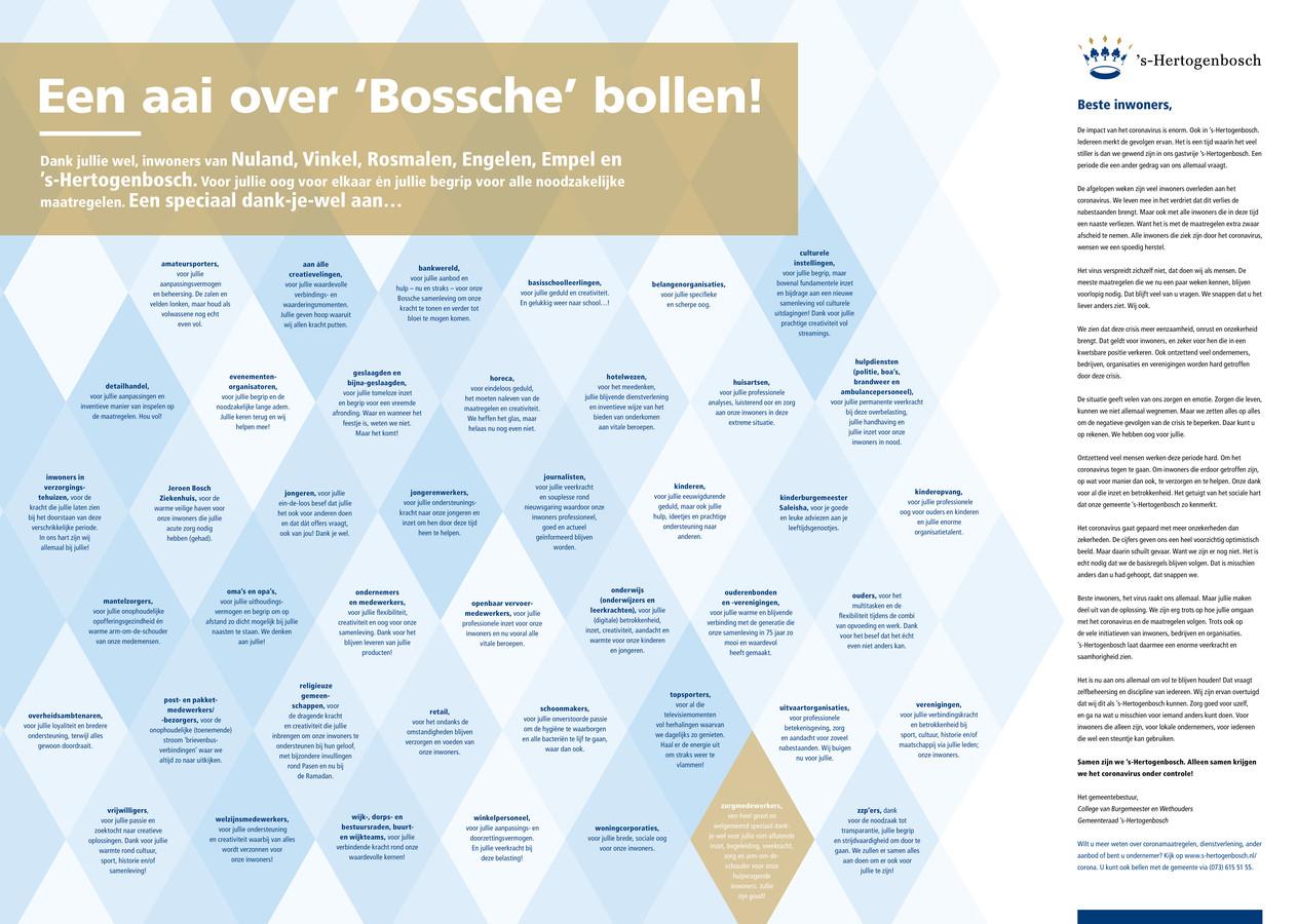Het stadsbestuur geeft een aai over 'Bossche' bollen.