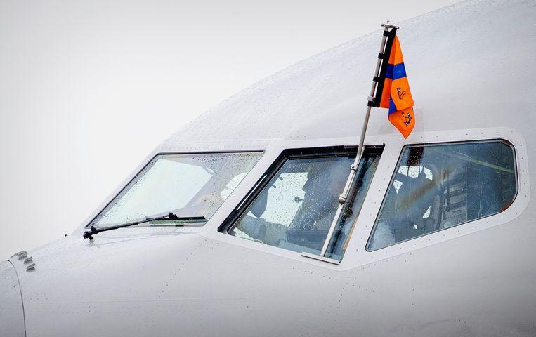 Koning Willem-Alexander copiloot Beeld ANP
