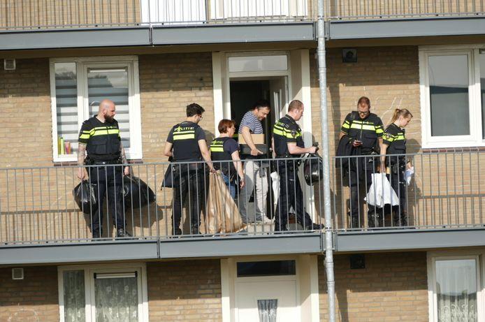 De politie deed in 2019 een inval in een woning aan de Meridiaan.