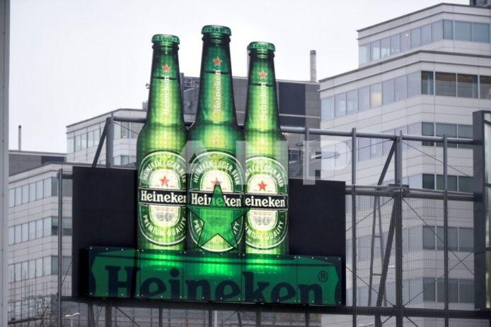 Reclame voor Heineken op Schiphol Amsterdam, 2016.