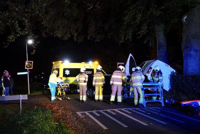 In het buitengebied van Bruchterveld is zaterdag bij een aanrijding een gewonde gevallen.