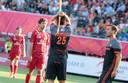 Thierry Brinkman baalt nadat zijn goal werd afgekeurd