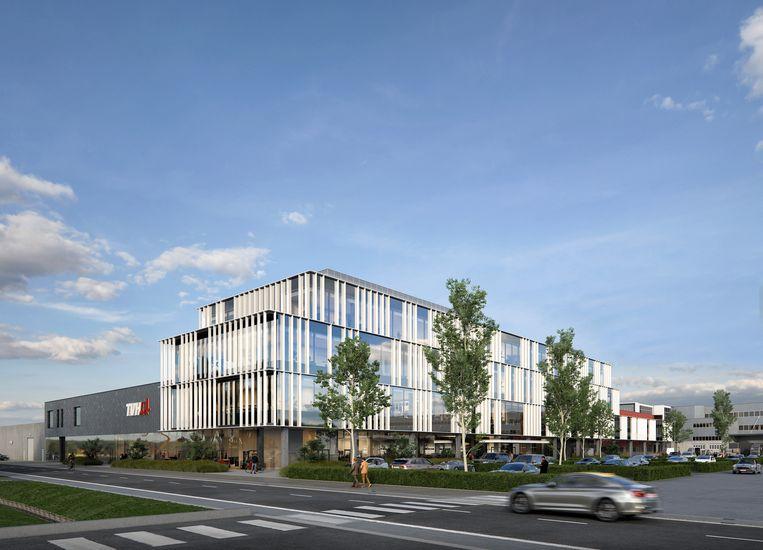 Zo moet het nieuwe hoofdgebouw van TVH er gaan uitzien
