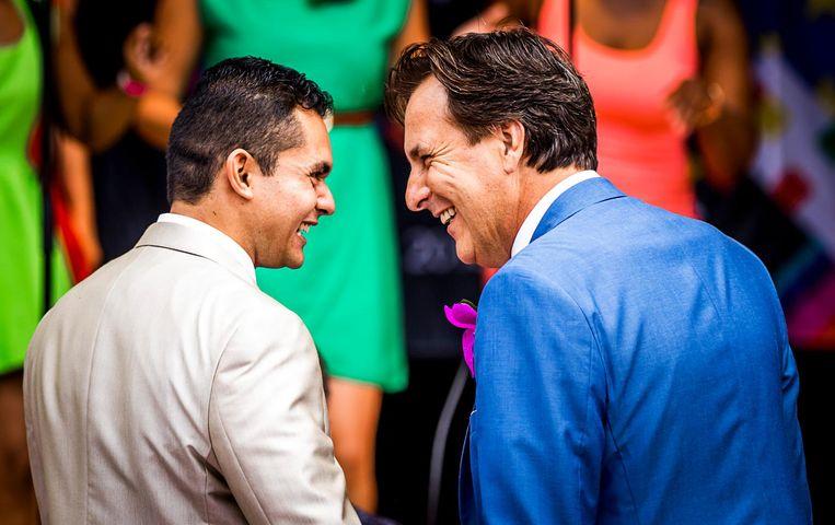 Gay Pride-directeur Lucien Spee trouwde met zijn vriend tijdens EuroPride. Beeld anp