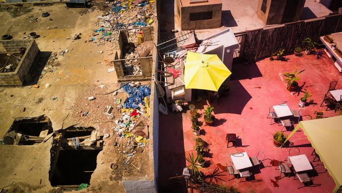Het verschil tussen arm en rijk in Casablanca, Morokko.