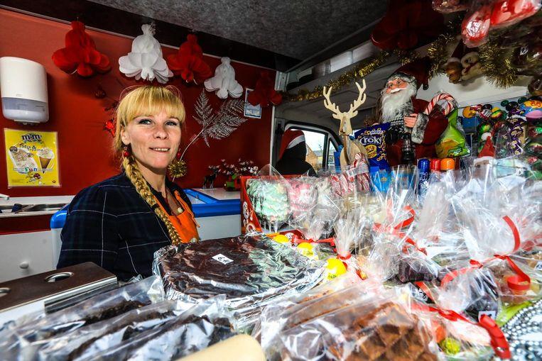 Sandra Zeebroek in haar Smulmobiel die ook tijdens de wintermaanden rondrijdt.