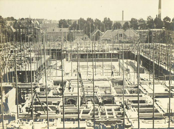 De bouwplaats van De Inktpot.