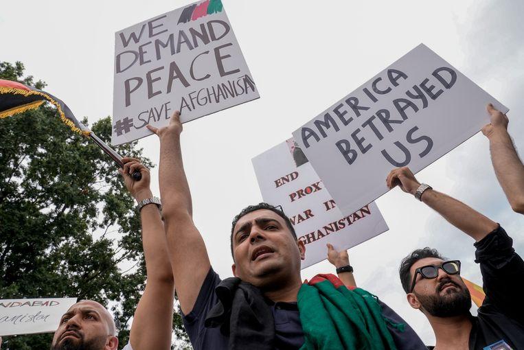Een demonstratie voor het Witte Huis in Washington. Beeld Reuters