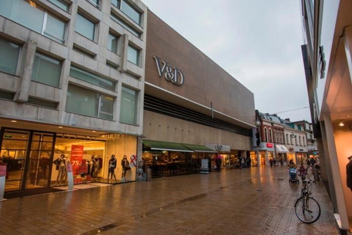 De voormalige V&D in de Heuvelstraat in Tilburg, waarin in september 2017 Hudon's Bay wordt gevestigd.