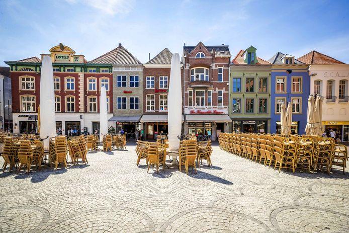 Lege terrassen in het centrum van Venlo
