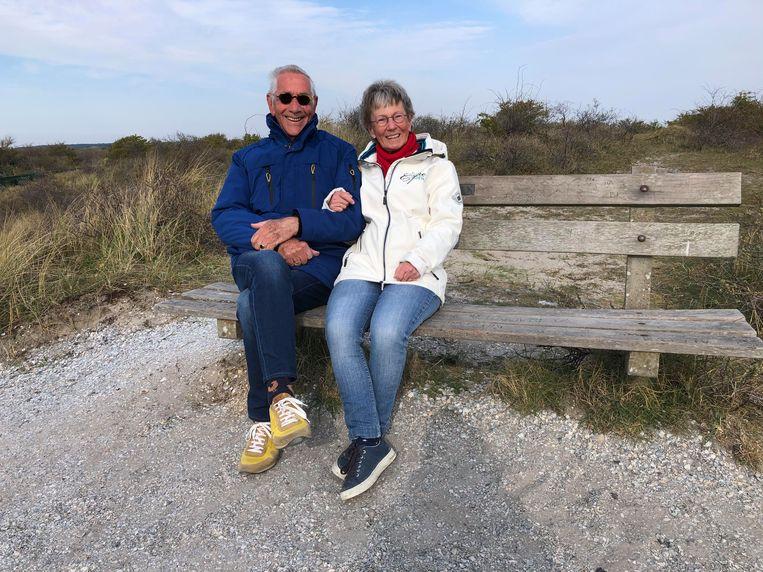 Gerrie Bronkhorst-Niesing en haar man. Beeld