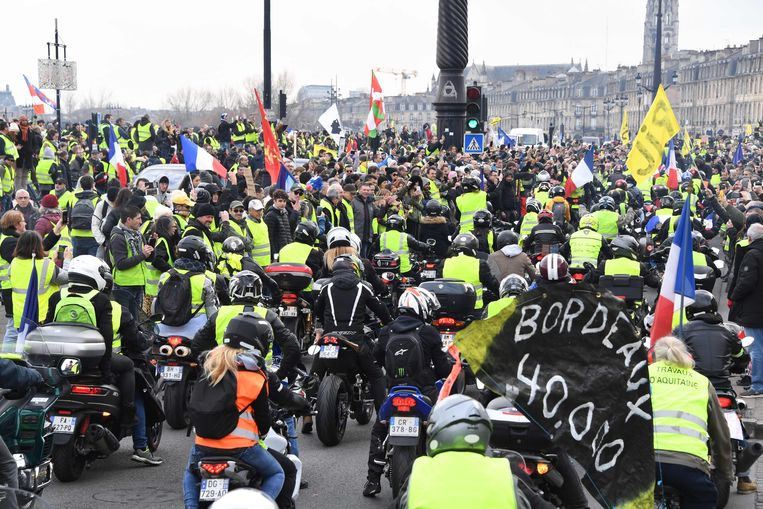 Demonstranten in Bordeaux. Beeld AFP