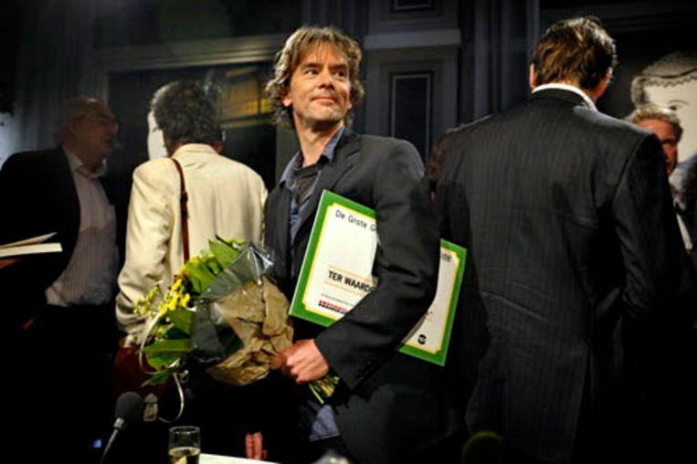 Luuc Kooijmans na de uitreiking van de Grote Geschiedenis Prijs 2008. (Kick Smeets) Beeld Kick Smeets