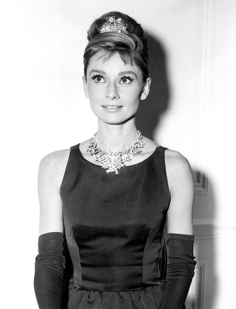 Audrey Hepburn op de set van Breakfast at Tiffany's. Beeld Corbis via Getty Images