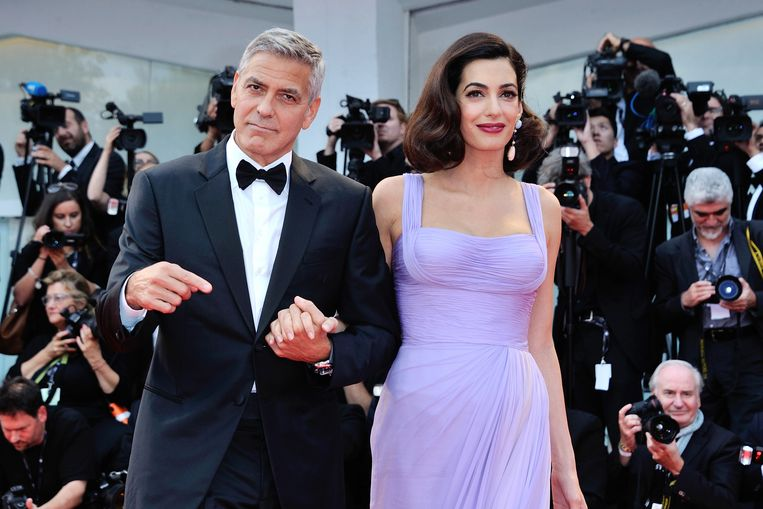 George Clooney and Amal Clooney attending the Suburbicon Premiere during the 74th Venice International Film Festival (Mostra di Venezia) at the Lido, Venice, Italy on September 02, 2017. Photo by Aurore Marechal/ABACAPRESS.COM Beeld BrunoPress/Abaca Press