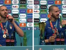 """Bonucci met fin au """"Bottlegate"""" en buvant du Coca-Cola et de la Heineken en pleine conférence de presse"""