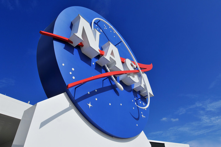 """""""Cape Canaveral, FL, USA- January 2, 2011: The NASA\'s Logo Signage at the Kennedy Space Center, NASA in Florida, USA."""""""