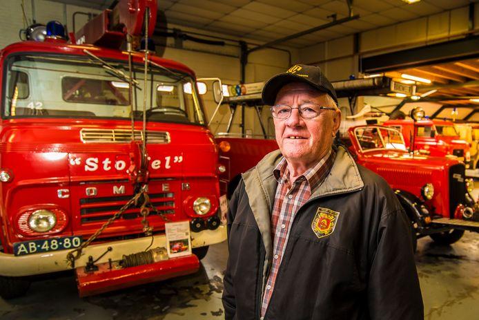 Herman Kistemaker bij Brandweermuseum Borculo