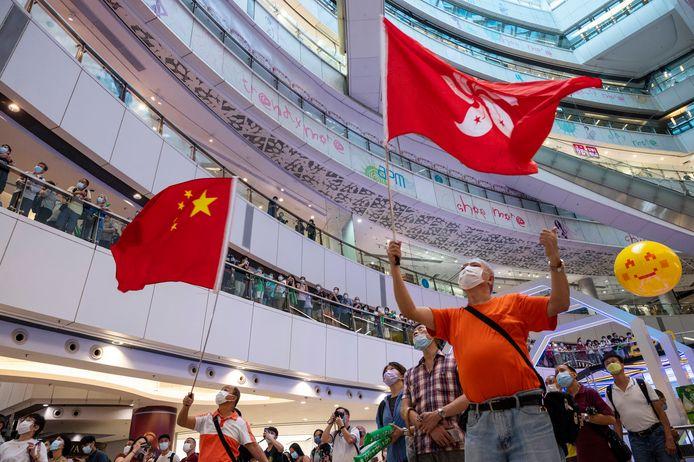 Lundi, des centaines de fans s'étaient rassemblés dans un centre commercial pour regarder ensemble la prestation d'Edgard Cheung, exultant quand il a remporté son titre olympique.