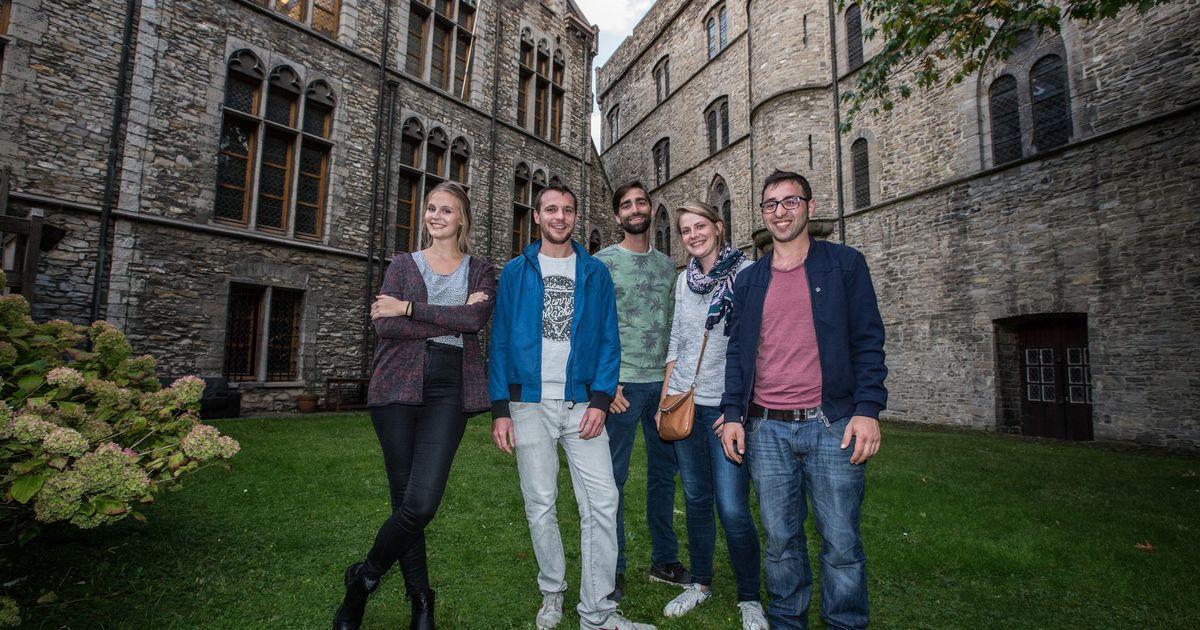 Zeven jongeren wonen tijdelijk in kasteel gent regio hln for Tijdelijk wonen