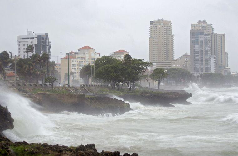 Flinke golven in Santo Domingo. Beeld ANP
