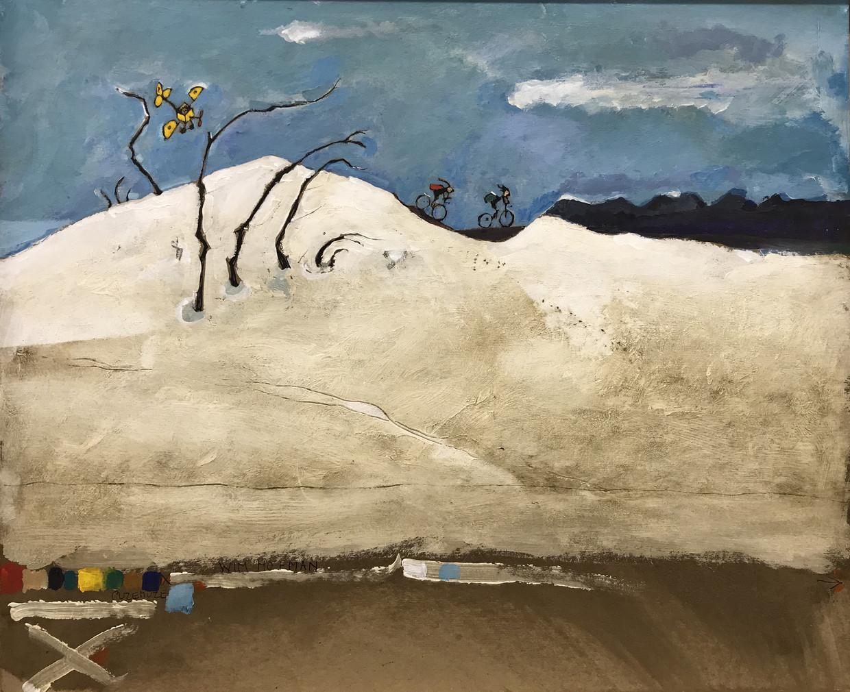 Een van de prenten uit Puzemuze of op weg naar Rothko, te zien in WG Kunst. Beeld Wim Hofman