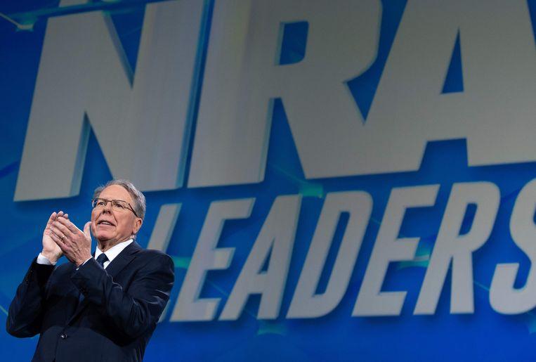 Wayne LaPierre, uitvoerend vicepresident van de NRA, op archiefbeeld uit 2019.  Beeld AFP