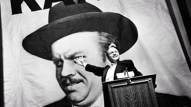 Orson Welles als Charles Foster Kane in zijn film Citizen Kane (1941), algemeen beschouwd als een van de beste films aller tijden  Beeld X