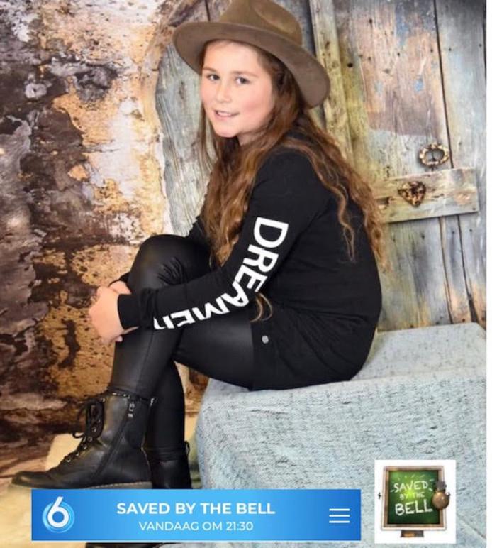 Jenna (10) uit Zevenbergen doet mee aan Saved by the Bell