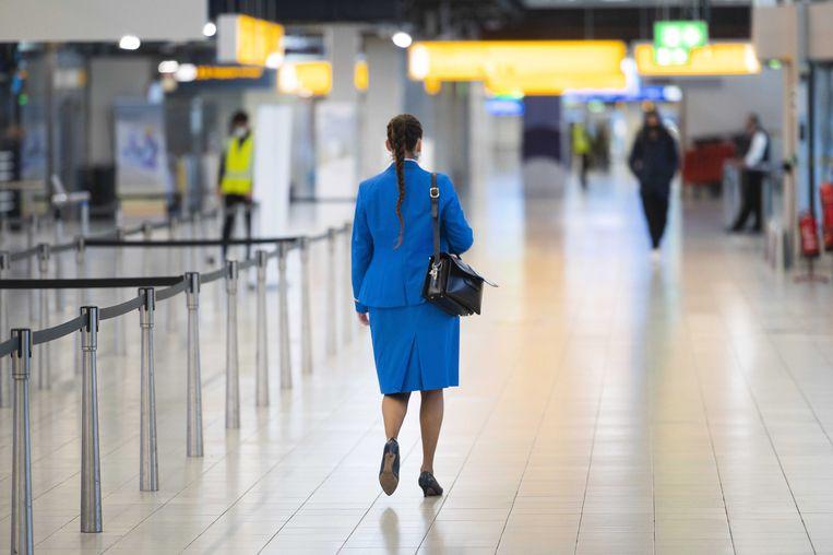 Door de coronacrisis verdwijnen bij KLM 800 tot 1.000 banen.  Beeld EPA