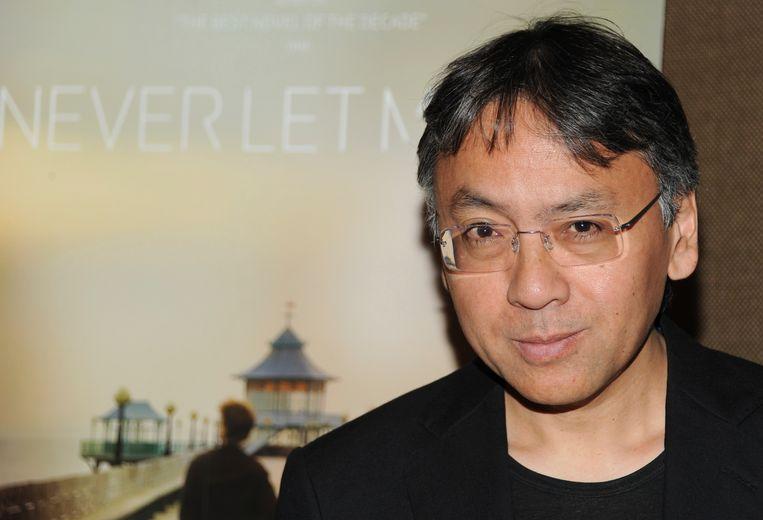 Kazuo Ishiguro bij de première van 'Never Let Me Go', de verfilming van zijn gelijknamige boek. Beeld AP