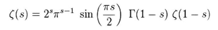 De formules van Ramanujan (boven) en Rieman (beneden) zijn de lelijkste, volgens het onderzoek.