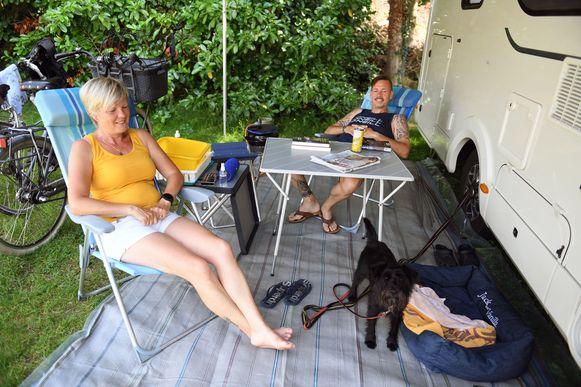 Ria Dauw en Geert Lefebure zijn trouwe klanten op camping De Klokkeberg tijdens RW