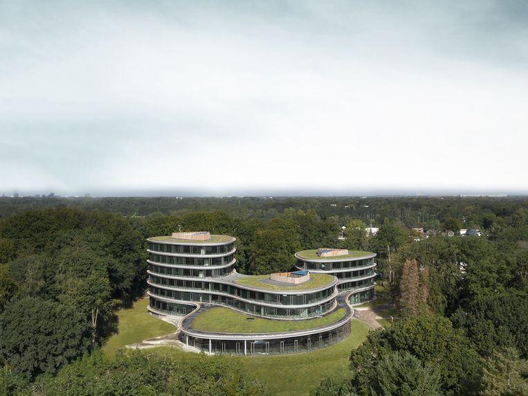 Het hoofdkantoor van de Triodos-bank in Zeist door RAU architecten. Beeld  Ossip van Duivenbode