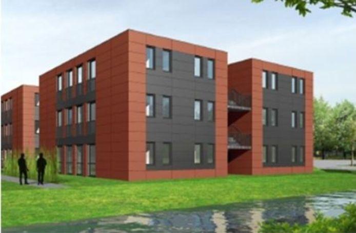 Appartementencomplex voor arbeidsmigranten op de locatie Elsenbos in Honselersdijk.