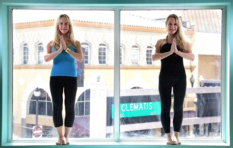 Anastasia (links) en haar tweelingzus Alexandria (rechts).