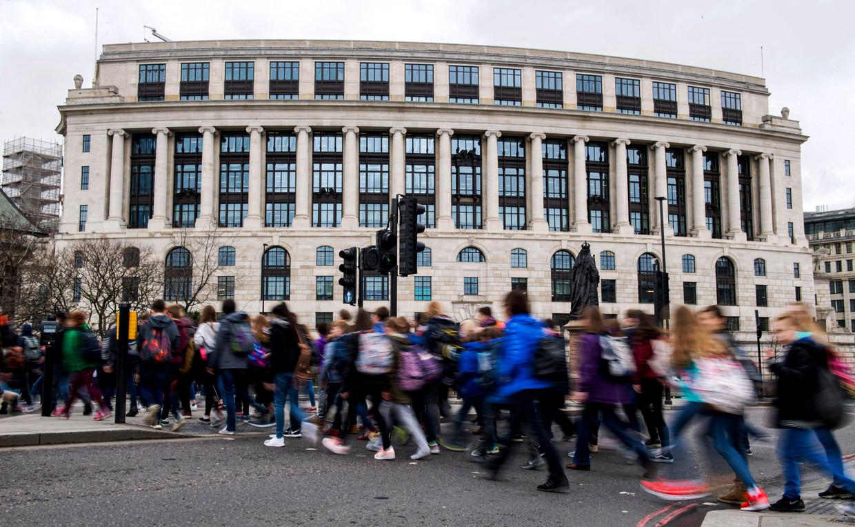 Het hoofdkantoor van Unilever in Londen. Unilever wordt volledig Brits. Beeld Hollandse Hoogte / AFP
