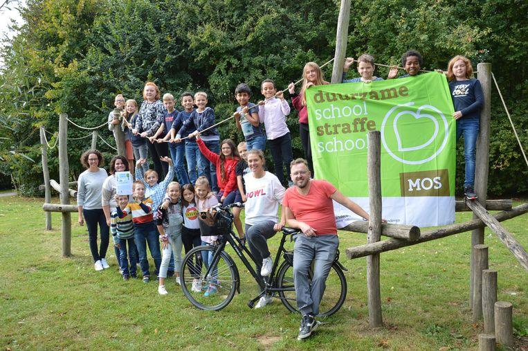 De leerlingen van het vijfde leerjaar van basisschool Molenveld zetten zich in voor het klimaat.