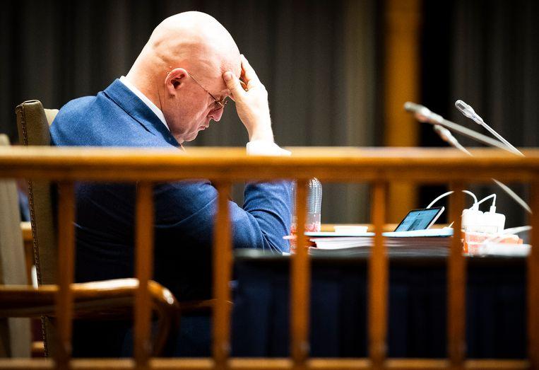 Demissionair minister Ferdinand Grapperhaus (Justitie en Veiligheid) tijdens vergadering over de spoedwet waarmee de avondklok moet worden geregeld. Beeld Freek van den Bergh / de Volkskrant