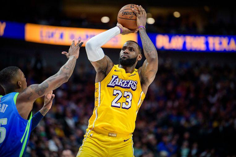 LeBron James hoopt in de toekomst niet alleen beoordeeld te worden als basketballer, maar ook op de manier waarop hij het leven benadert als een Afro-Amerikaanse man.  Beeld USA TODAY Sports