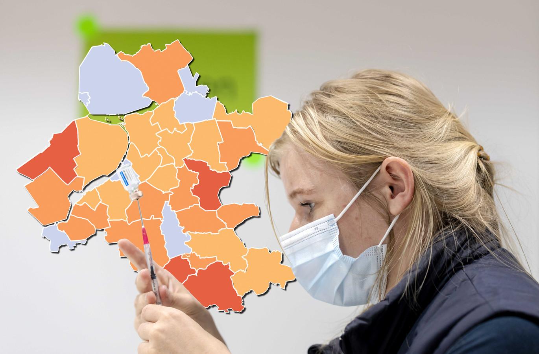 Oost-Nederland op de coronakaart.