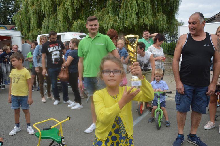 Lore won de driewielerkoers.