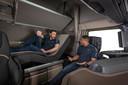 Voor de nieuwe truck is een volledig verstelbaar DAF Relax Bed beschikbaar.