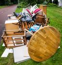 De huisraad van een net ontruimde Amsterdamse woning