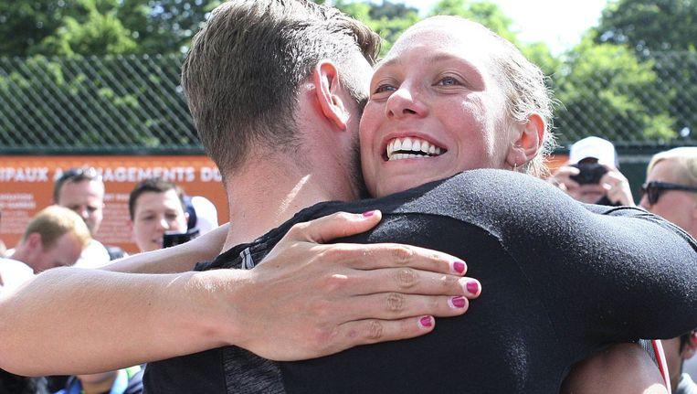 Yanina Wickmayer wordt gefeliciteerd met haar prima prestatie.