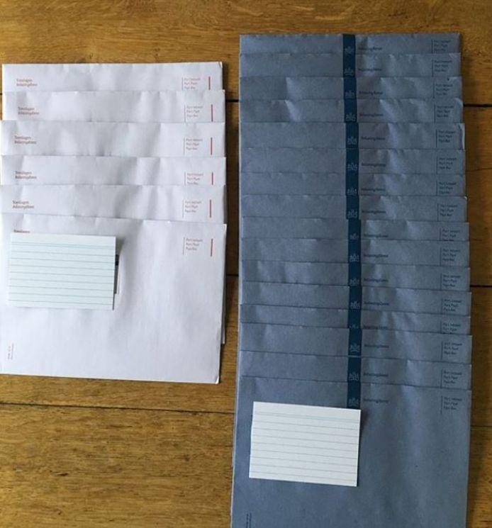 22 dezelfde brieven van de Belastingdienst