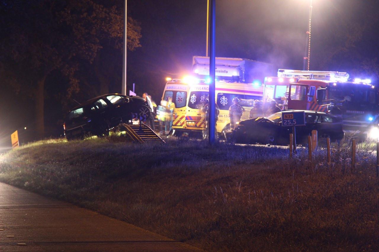 Een van de vele ongelukken op de N35 bij Mariënheem.