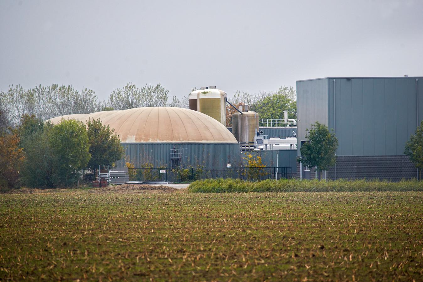 Een biovergistingsinstallatie elders in het land, bij Dinther.